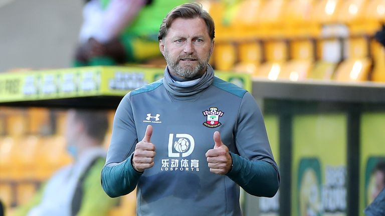 Southampton boss Ralph Hasenhuttl is wary of a strong response from Arsenal after they suffered back-to-back defeats