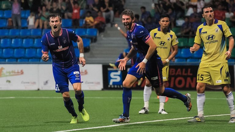 Beattie and his Warriors FC team-mates were Singapore S-League champions in 2014