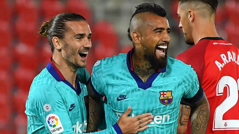Arturo Vidal scored inside two minutes