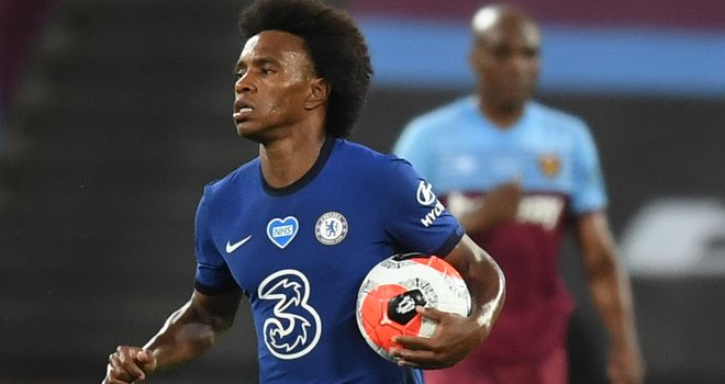 Chelsea boss Lampard retains hope of Willian signing contract