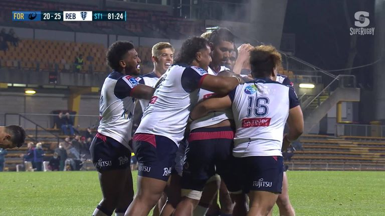 Milestone man Isi Naisarani celebrates his 50th cap by securing Rebels victory in the 82nd minute!