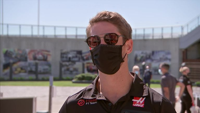 Haas driver Romain Grosjean says he has had positive talks with Lewis Hamilton and resolved their differences regarding the drivers' anti-racism protests