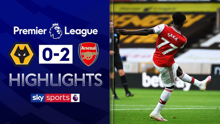 FREE TO WATCH: Highlights from Arsenal's win at Wolves