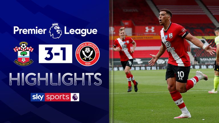 FREE TO WATCH: Highlights from Southampton's win against Sheffield United in the Premier League