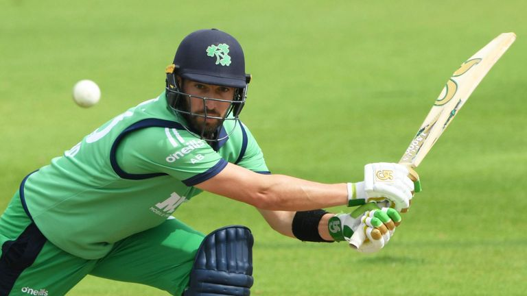 Ireland captain Andy Balbirnie in action against England Lions at the Ageas Bowl