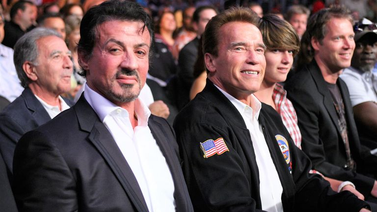 Hollywood stars Sylvester Stallone and Arnold Schwarzenegger watched Arreola's clash with Vitali Klitschko