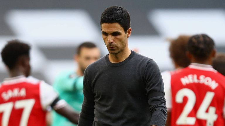 Arsenal boss Mikel Arteta has work to do after the defeat at Tottenham