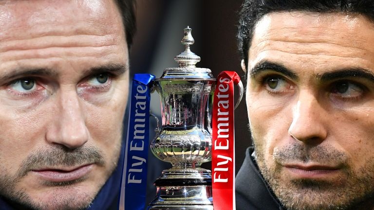 Frank Lampard and Mikel Arteta could both win their first trophies at their respective clubs