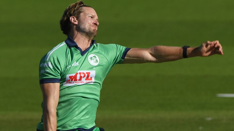 Ireland seamer Barry McCarthy will miss the rest of the ODI series against England through injury