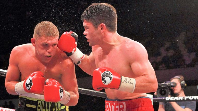 Saunders edged out Ryder in a British and Commonwealth title clash