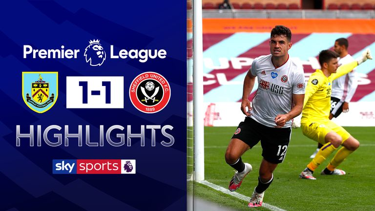 FREE TO WATCH: Highlights from Burnley's draw against Sheffield United
