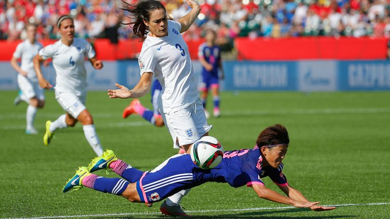 Claire Rafferty gave away a penalty, despite her tackle coming outside of the area