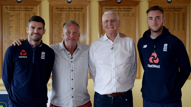 The new tournament has been named in honour of the late Bob Willis, pictured third from left with fellow England bowlers James Anderson, Sir Ian Botham and Stuart Broad
