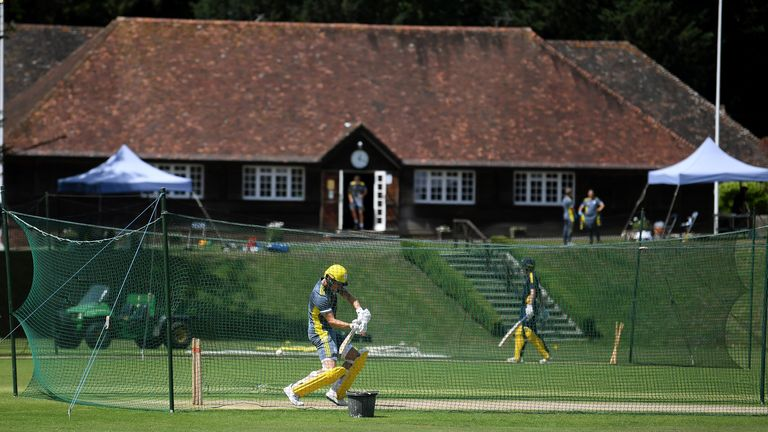 Hampshire's players have been training at Arundel ahead of the shortened 2020 season