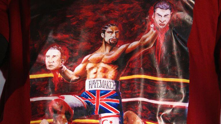 Haye's t-shirt had angered Klitschko