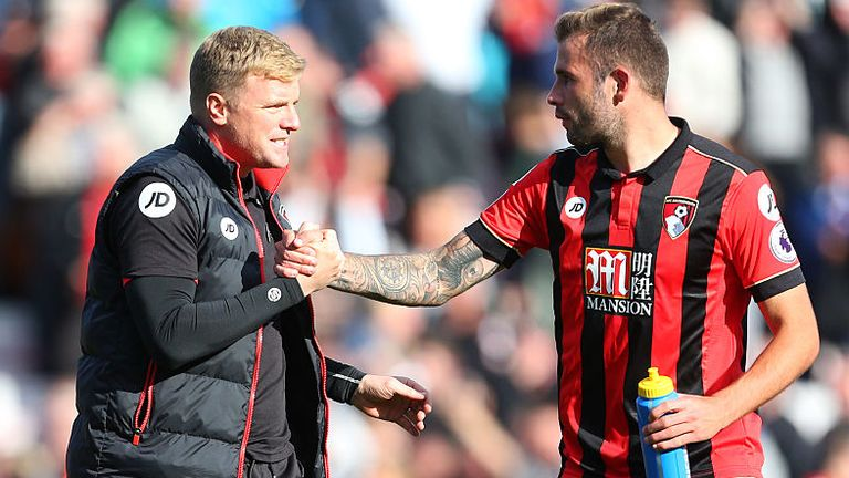 Bournemouth defender Steve Cook played under Howe for eight years