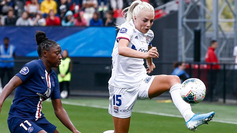 Alex Greenwood joined Lyon last August