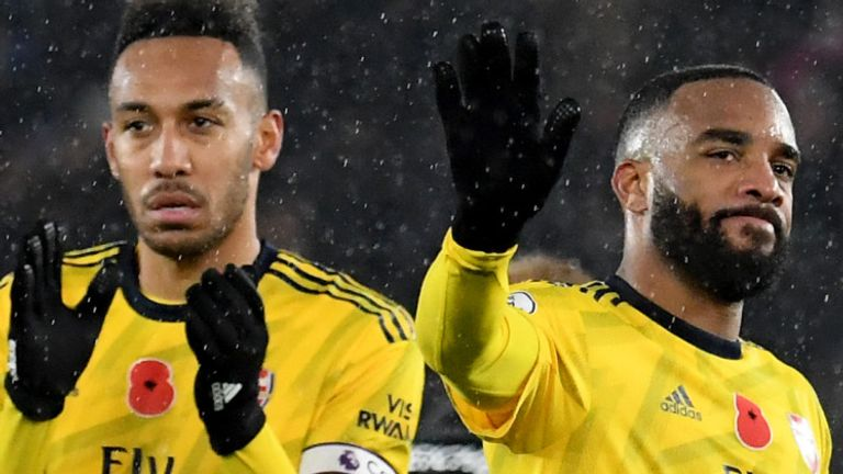 Alexandre Lacazette (right) and Aubameyang