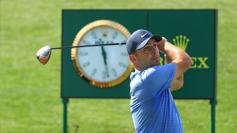 Francesco Molinari in action in March before the sport's stoppage