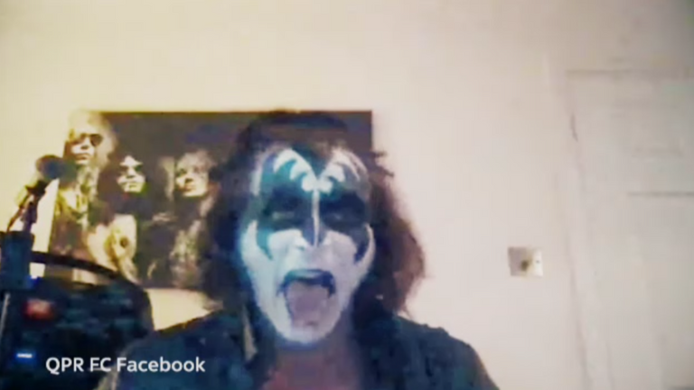 Wycombe boss Gareth Ainsworth hosted a quiz in full Gene Simmons makeup during lockdown