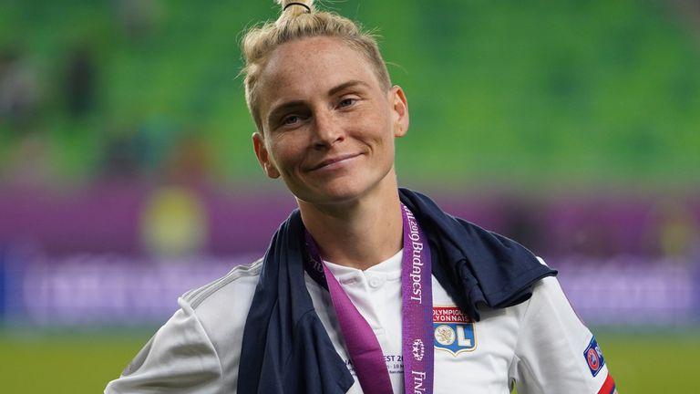 Fishlock won the Women's Champions League Final with Lyon in the 2018-19 season