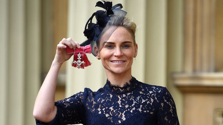 Jess Fishlock was awarded an MBE in 2018 for services to football and the LGBT+ community