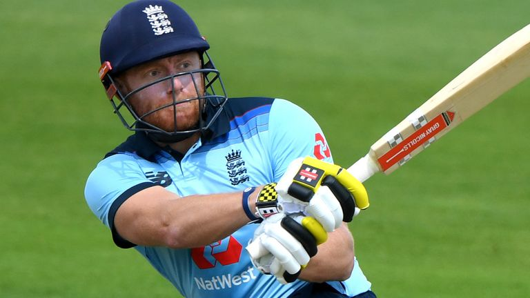 Jonny Bairstow struck a magnificent century in England's first intra-squad warm-up on Tuesday