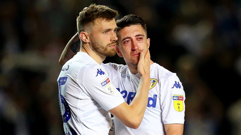 Leeds were beaten by Derby in the Championship play-off semi-final in May 2019