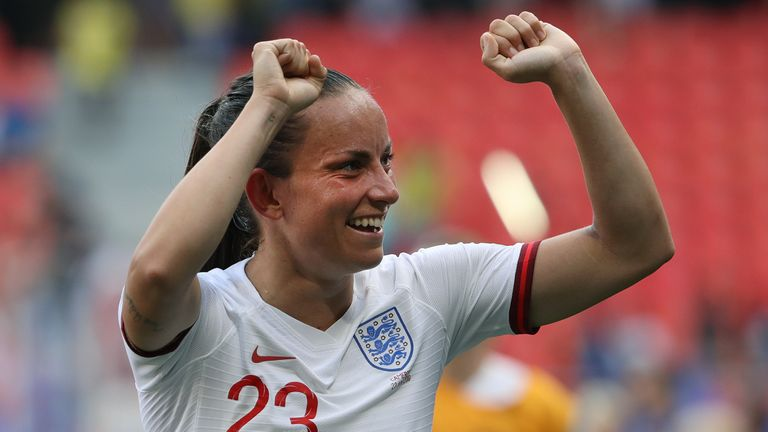 Lucy Staniforth was part of the England squad at last summer's World Cup in France