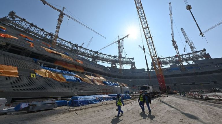 The still to be constructed Lusail Stadium in Doha will host the 2022 World Cup final