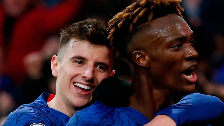 Mason Mount and Tammy Abraham, two of the eight homegrown players Chelsea fielded this season