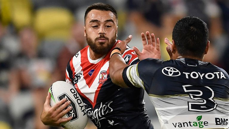 Matt Ikuvalu ran in five tries for the Roosters against the Cowboys