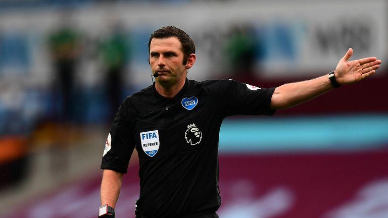 Michael Oliver will referee Sunday's north London derby at the Tottenham Hotspur Stadium