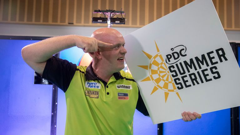 World no 1 Michael van Gerwen claimed two of the Summer Series events in July