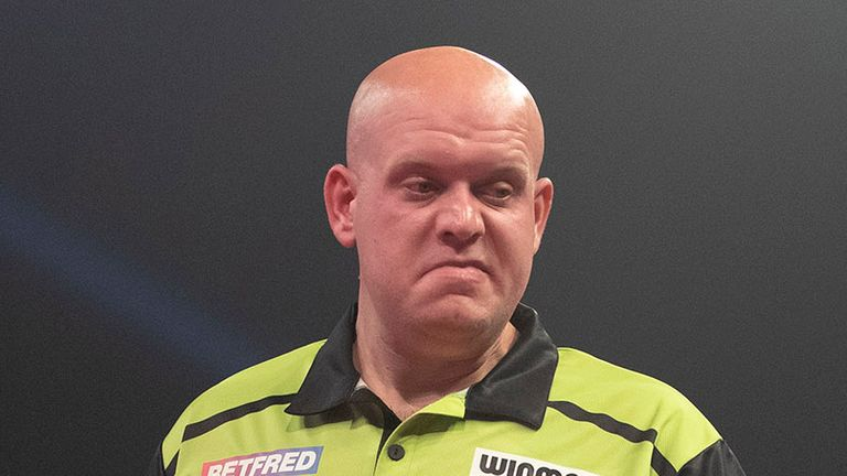 Michael van Gerwen admitted during the Premier League that he was lacking confidence