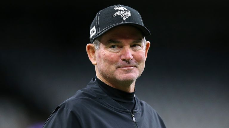Vikings head coach Mike Zimmer has taken his team to the playoffs in three off his six seasons in charge