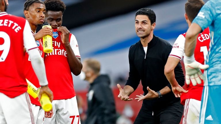 Mikel Arteta oversaw Arsenal's win over Liverpool but wasn't getting carried away