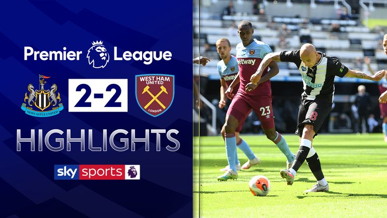 FREE TO WATCH: Highlights from Newcastle's draw with West Ham