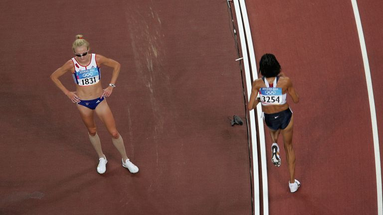 Radcliffe made the choice to contest the 10,000m final a few days after her marathon turmoil in Athens