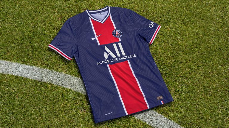 PSG's home and away kits both mark the club's 50th anniversary