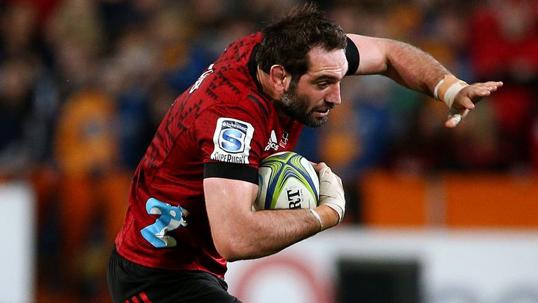 Sam Whitelock will make his 150th appearance for the Crusaders