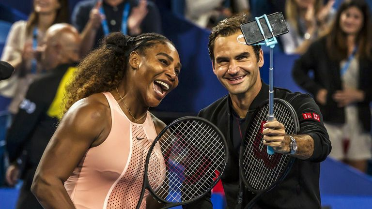 Murray believes seeing the likes of Serena Williams and Roger Federer on the same court would be brilliant for the sport