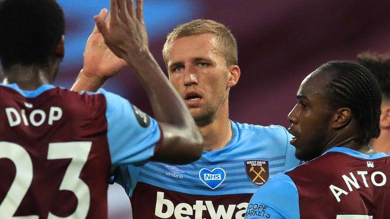 Tomas Soucek has been a standout - and tireless - performer for West Ham