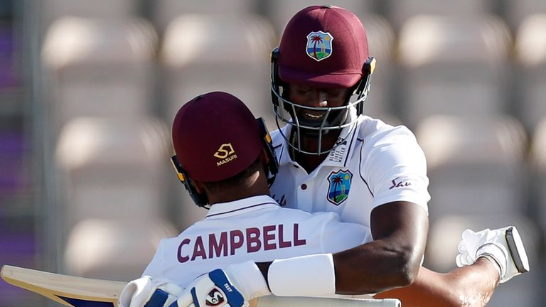 Jason Holder was there at the end as West Indies completed a famous win