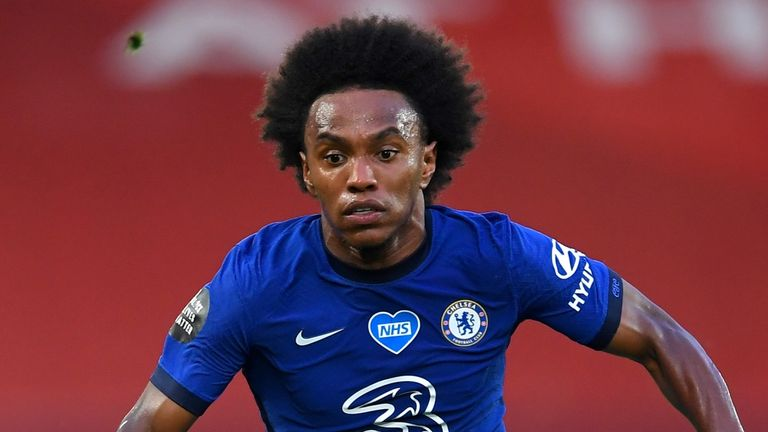 Willian has scored four goals and assisted three since the restart