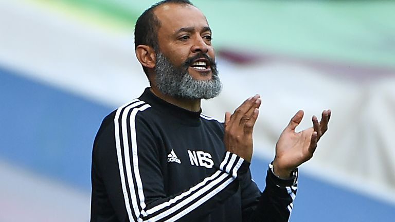Nuno Espirito Santo has been named manager of the month for June