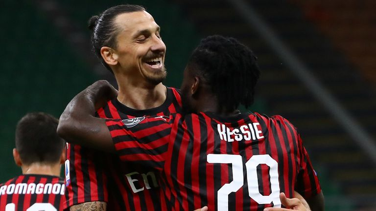 Zlatan Ibrahimovic has scored five goals in 11 appearances since rejoining Milan, including two in his last two games