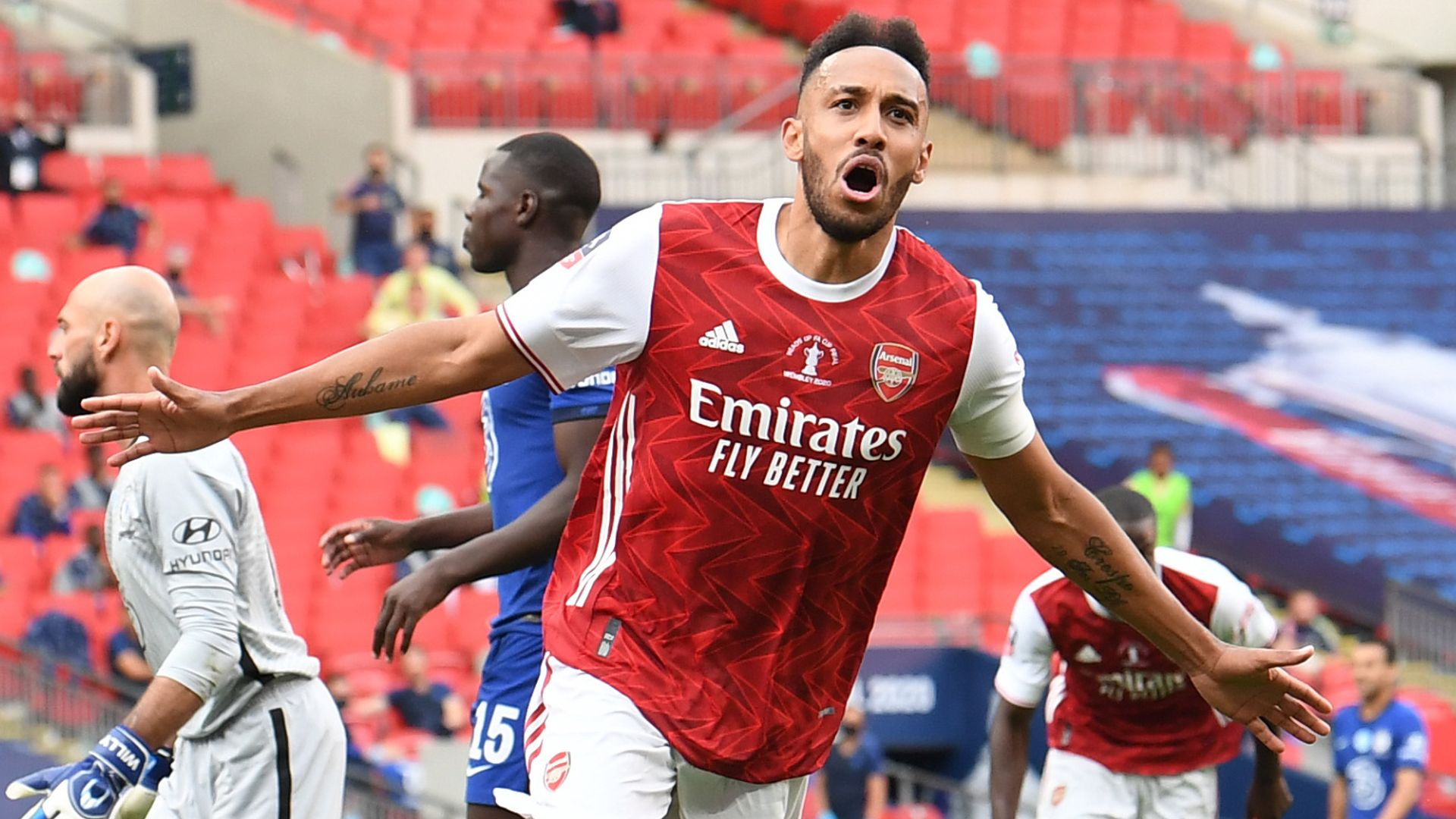Aubameyang fires Arsenal to FA Cup glory