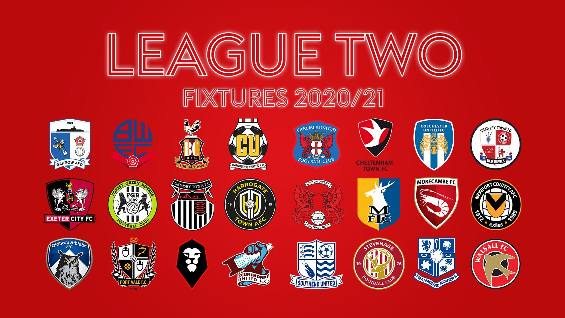 League Two fixtures 2020/21