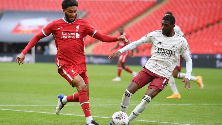 Ainsley Maitland-Niles produced a disciplined display amid transfer speculation